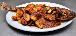 Fish and Plantain Dish