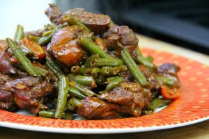Stew Chicken with String Beans